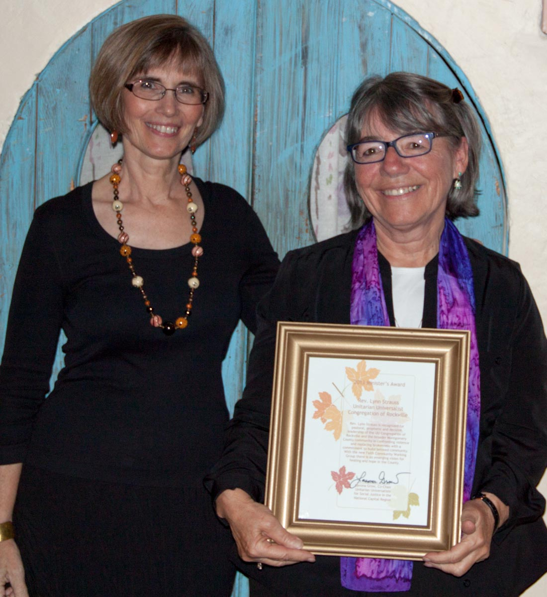 Lavona Grow and Rev. Lynn Strauss